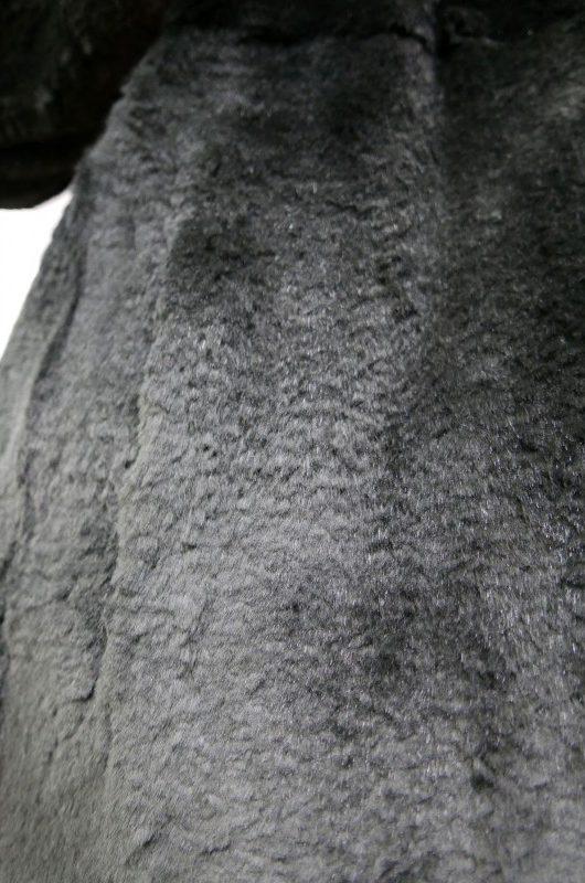 Futro z królików, kolor czarny, r. L